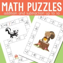 Forest Animals Math Addition and Subtraction up to 10