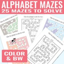 Alphabet Mazes Alphabet Worksheets for Kids