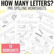 How Many Letters? Pre Spelling Worksheets