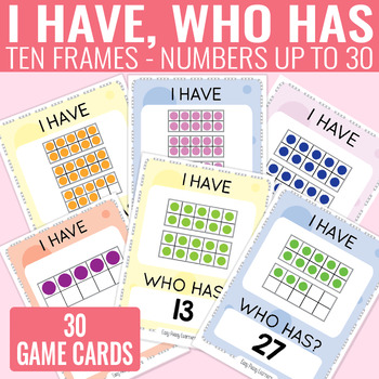 I Have, Who Has Ten Frames up to 30 Game