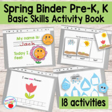 Kinder & Preschool Spring Binder Activity Book