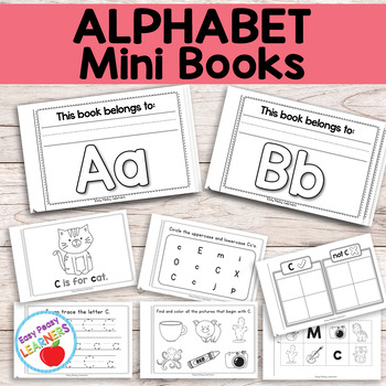 Mini Alphabet Books - Small Alphabet Worksheets