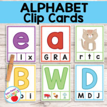 Alphabet Clip Cards - Beginning Sounds Clip it Cards