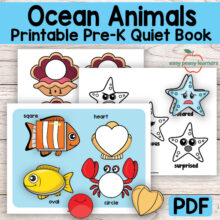 Kinder & Preschool Ocean Animals Binder Activity Book